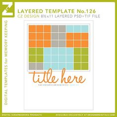 Cathy Zielske's Layered Template No. 126 - Digital Scrapbooking Templates