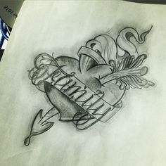 Family tattoo ink эскиз тату сердце