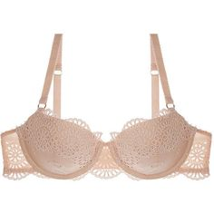 Stella McCartney Rachel Shopping Balconnet Bra ($33) ❤ liked on Polyvore featuring intimates, bras, lingerie, bra, peony, stella mccartney, stella mccartney lingerie, demi bra, lingerie bra and fancy lingerie