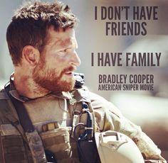 Bradley Cooper as American Sniper, hero Chris Kyle.