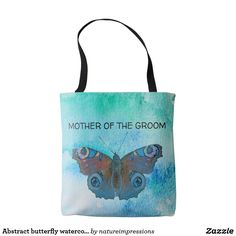 Abstract butterfly watercolor custom Wedding Tote Bag