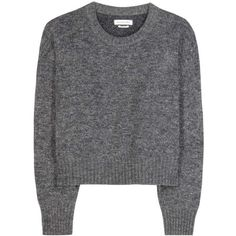 Isabel Marant, Étoile Richie Wool-Blend Sweater (€155) ❤ liked on Polyvore featuring tops, sweaters, grey, gray sweater, grey top, grey sweater, etoile isabel marant sweater and wool blend sweaters