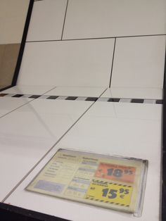White bathroom tiles at Hornbach
