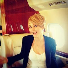 Stop being so wonderful, JLaw.  I kind of want your new hair but sadly know it would never work with my poof.