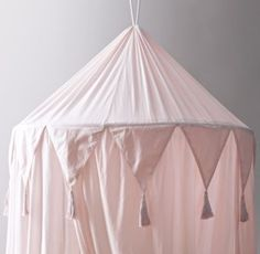 RH Baby & Child's Cotton Voile Play Canopy - Petal:A little imagination goes a lot further when it's accompanied by our hanging canopy, which transforms any nook into an enchanted enclosure just perfect for play.