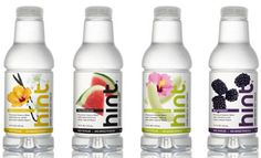 """""""Hint is a pure healthy water lightly infused with natural flavors. Unsweetened. Lightly flavored. No calories."""" www.drinkhint.com"""