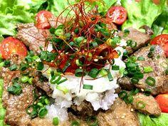 牛肉を塩麹につけて焼きましたん がすすみま〜すっ‼ - 116件のもぐもぐ - 牛肉サラダっ‼ by taepyonpyon
