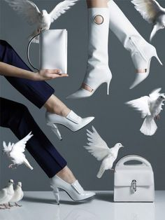 White Shoes and White Accessories - W magazine: