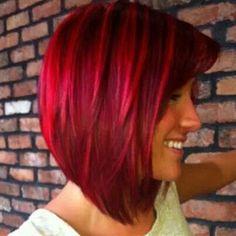 Beautiful! Red and bright red hair @Paula manc manc Mayo this is cute. Dark red and bright red.