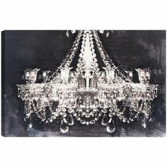 Canvas Wall Art chandelier | ... Entrance Night Canvas Wall Art - this is for the wall- super cool art