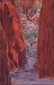 Works on Paper - Albert Namatjira - Page 2 - Australian Art Auction Records Australian Painting, Australian Artists, Landscape Art, Landscape Paintings, Aboriginal Artists, Aboriginal History, Aboriginal People, Australian Aboriginals, Encaustic Painting