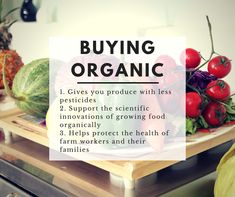 Buying organic is important for vegan diets as there are more pesticides with more fresh produce.