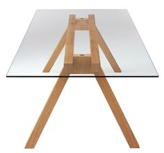 Beam glass table