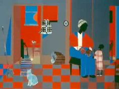 African American artist, Romare Bearden's Bio. Great artist to teach collage projects.