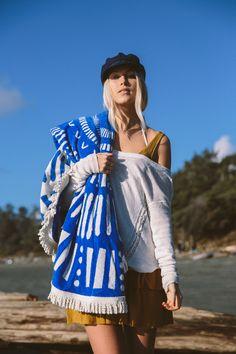 Bohemian Round Beach Towel in Royal Blue Round Towels, Beach Towel, West Coast, Royal Blue, Rain Jacket, Windbreaker, Bohemian, Fashion, Moda