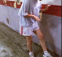 Street wear vintage adidas shorts nike socks