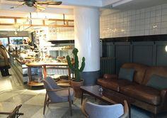 Grandpa Coffee&Eatery | Bebek/Istanbul designed by Zemberek Design #interiordesign #interior #cafedesign #coffee #bakery #bakerydesign #coffeeshop #terrazzofloor #cactus