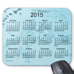 Old Turquoise Paint 2015 Calendar Mouse Pad
