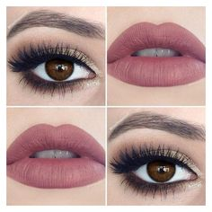 """Makeup Artist on Instagram """"Weekend makeup for my brown eyed girls ❤ liked on Polyvore featuring makeup"""