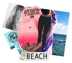 """""""Chillin by the beach"""" by perfeqequestrian ❤ liked on Polyvore featuring Victoria's Secret, Topshop, Birkenstock, MANGO, Rosanna and Casetify"""