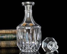 Crystal Decanter for Whiskey Cognac Wine Liquor Art Deco Malbec Wine, Champagne Coupe Glasses, Olive Oil Bottles, Crystal Champagne, Whiskey Decanter, Crystal Decanter, Wine And Liquor, Wine Goblets, Cocktail Glass