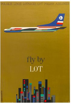 Polskie Linie Lotnicze LOT S.A. #travel #poster (1960s)