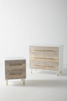 Slide View: 6: Carved Thalia Three-Drawer Dresser