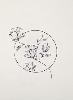 line art for watercolor Line Art Tattoos, Mini Tattoos, Flower Tattoos, Tattoo Drawings, Easy Drawings, Body Art Tattoos, Dainty Tattoos, Small Tattoos, Mode Poster