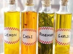 I love infused olive oils. These infused olive oil recipes are delicious. Dress them up in decorative bottles and they make wonderful gift ideas.