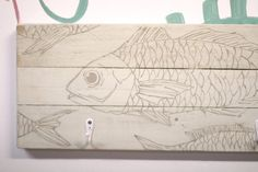 White wooden hanger fish illustrated a project of by littlerocksPK