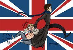British summed up Sherlock Series, Sherlock Holmes, Sherlock Cartoon, Belated Birthday Card, Johnlock, The Hobbit, Loki, Nerd, British