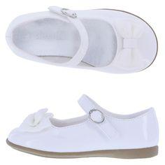 Girls' Elena Bow Dress ShoeGirls' Elena Bow Dress Shoe, White Patent