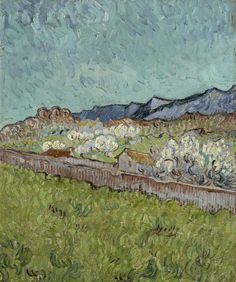 Vincent van Gogh (Dutch, View of the Alpilles Saint-Rémy-de-Provence, 1890 oil on canvas, 33 cm x cm Van Gogh Museum, Amsterdam Vincent Van Gogh, Van Gogh Museum, Art Van, Van Gogh Landscapes, Landscape Paintings, Landscape Art, Desenhos Van Gogh, Van Gogh Arte, Van Gogh Paintings