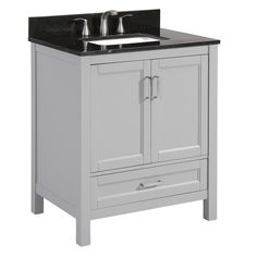 Scott Living Canterbury Light Gray Undermount Single Sink Bathroom Simple 30 Bathroom Vanity With Top Decorating Inspiration