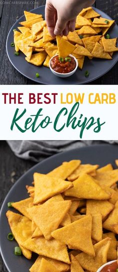 Try these brilliant keto tortilla chips are made with mozzarella cheese and almond flour. Perfect low carb chips for dipping in guacamole or salsa. You will need to use a microwave or a double boiler to make these fathead dough chips. Best Low Carb Snacks, Low Carb Recipes, Diet Recipes, Atkins Recipes, Smoothie Recipes, Recipes With Almond Flour Low Carb, Atkins Snacks, Snacks Recipes, Steak Recipes