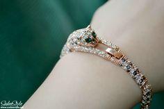 Stunning Rhinestone leopard bracelet ~ SadeeStyle Beauty & Fashion Blog