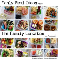 Manly meal ideas from The Family Lunchbox packed in EasyLunchboxes #manupyourlunch