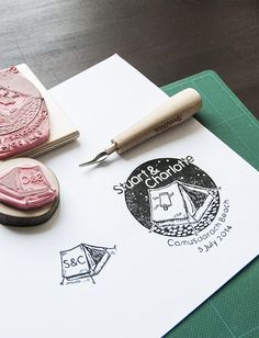 super cute stamps for your wedding or event http://www.weddingchicks.com/2014/03/25/stamps-for-charlotte-and-stuarts-wedding/