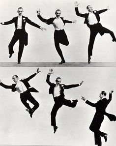 Fred Astaire dancing, circa 1930's  I have no desire to prove anything by dancing. I have never used it as an outlet or a means of expressing myself. I just dance. I just put my feet in the air and move them around.   Fred Astaire