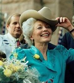 Ann Richards - The second female Governor of Texas. Richards supported ratification of the Equal Rights Amendment to the U.S. Constitution and held training sessions throughout the state on campaign techniques for women candidates and managers.