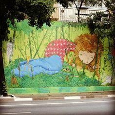Av 23 de Maio, trabalho finalizado. Foto. @paulo_espirito obrigado pelo registro. #23demaio #projetograffitina23demaio #Sampagraffiti. #sambadograffiti #instagrafite #2015.    Artist andremogel, Brazil