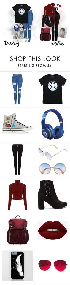 """""""Millie and Darcy casual(Marvel universe)"""" by potato-cloud on Polyvore featuring Topshop, Converse, Beats by Dr. Dre, Paige Denim, Sunday Somewhere, A.L.C., M Z Wallace, Valentino, casual and marvel"""