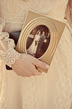 I saw this and thought it would be sweet to tuck a picture of your mom into wedding bouquet in a cameo charm.