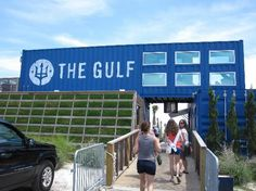 The Gulf: Front of the establishment,  eat on the water, deck, sand