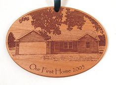 Hey, I found this really awesome Etsy listing at https://www.etsy.com/listing/176635657/first-home-wooden-ornament-new-home