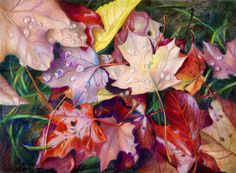 """""""Fading Beauty"""" - by Veronica Winters          ~ Colored Pencil"""