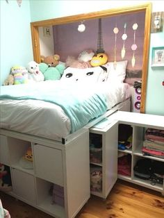 Storage bed IKEA Hack Expedit hack under bed storage storage bed . - Ikea DIY - The best IKEA hacks all in one place