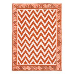 """I pinned this D.L. Rhein Melrose 2'8"""" x 3'9"""" Rug in Orange from the Greek Key event at Joss and Main!"""
