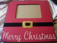 The Creative Princess: DIY Christmas Frame - Elmer's Holiday Xmas Frames, Christmas Picture Frames, Picture Frame Crafts, Christmas Photo Booth, Christmas Pictures, First Christmas, Christmas Holidays, Christmas Ideas, Merry Christmas