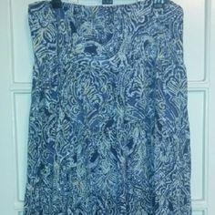 Chaps Denim Skirt Pre - loved. Good quality, worn several times. Chaps Skirts Midi
